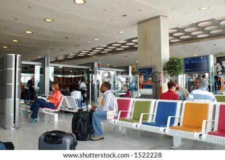 waiting area - stock photo