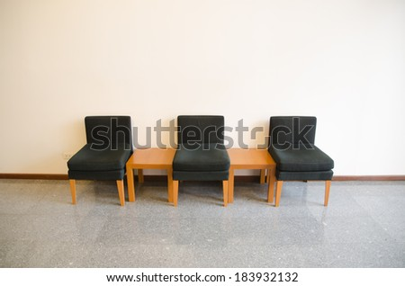 Waiting area in the Meeting room