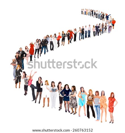 Waiting for their Turn Business Idea  - stock photo