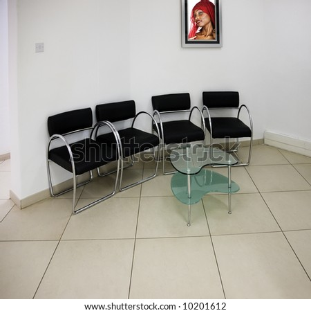 Waiting room generic, initially on some medical practice, - stock photo