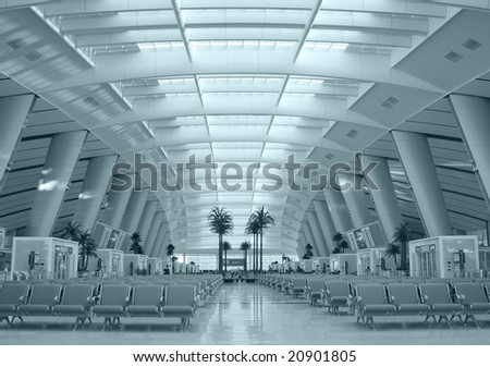 waiting room of train. - stock photo