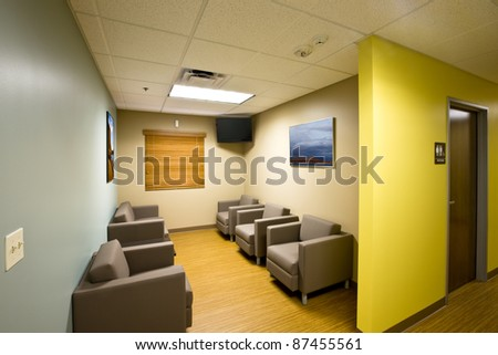 Waiting room/Patient waiting room/Office-medical waiting room- artwork on the walls is my landscapes.