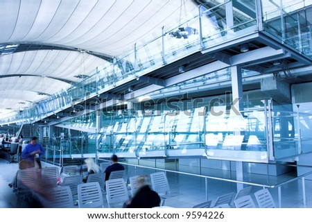 waiting room,  place in airport - stock photo