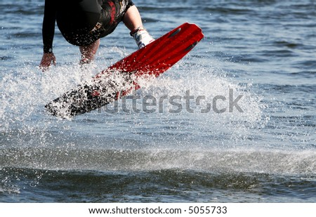 Wakeboarding - Jump - stock photo