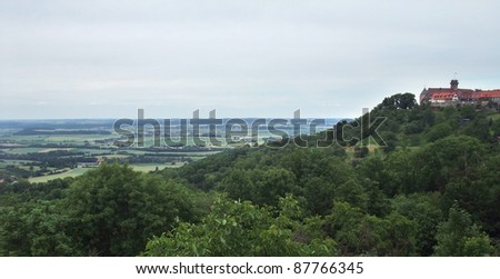 Waldenburg, a small town in Hohenlohe (Southern Germany) at summer time - stock photo