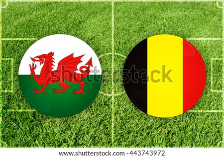 Wales vs Belgium - stock photo