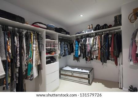 Walk In Wardrobe - stock photo