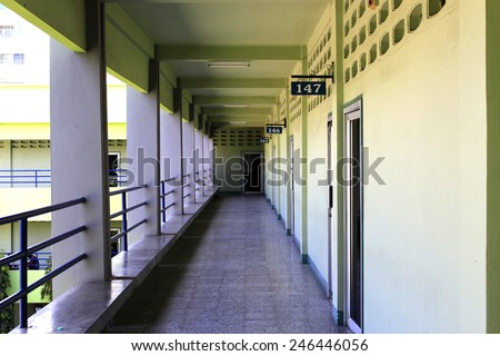 Walk on the Block - stock photo