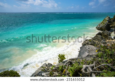 walk through Mexico - stock photo