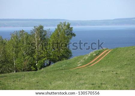 Walk through the beautiful places on the coast - stock photo
