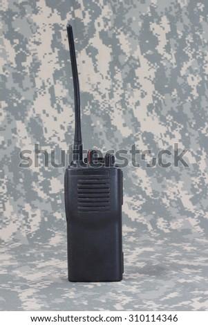 Walkie-talkie background - stock photo