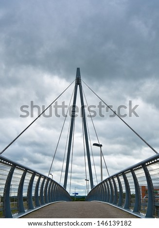 walking bridge - stock photo