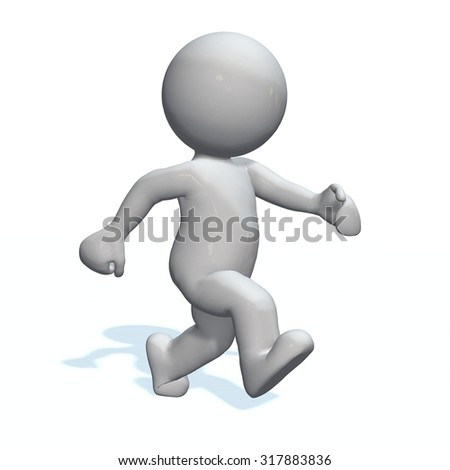 walking - 3D People isolated - stock photo
