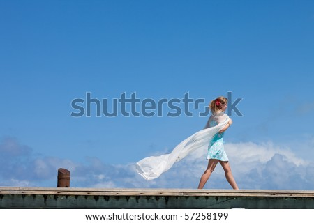 Walking in heaven - stock photo