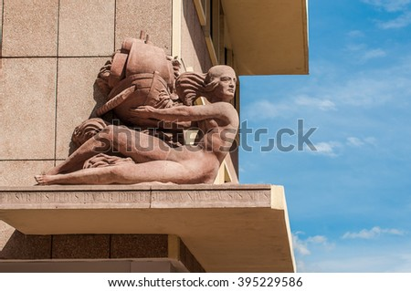 walking on the street in Marseilles   - stock photo
