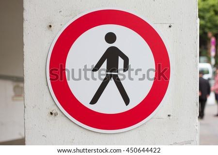 Walking road sign - stock photo
