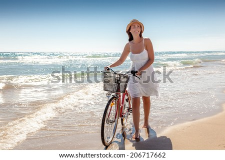 walking tropical spa resort active female - stock photo
