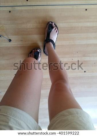 Walking woman  - stock photo