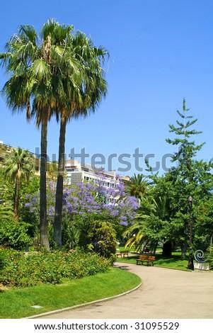 Walkway at Massena Square in Nice, France - stock photo