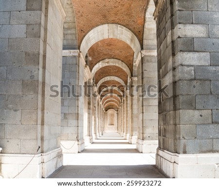Walkway in Royal Palace, Madrid, Spain