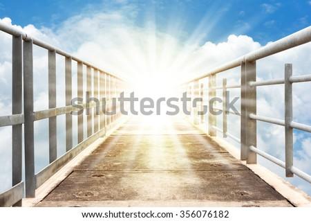 walkway to heaven - stock photo