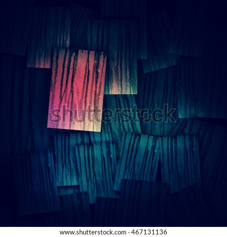 Wall abstract painting in the old colors 3d rendering.