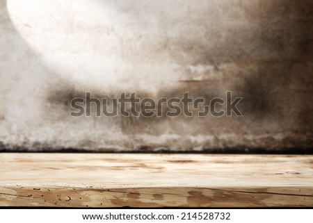 wall and board space  - stock photo