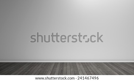 wall and floor without people - stock photo