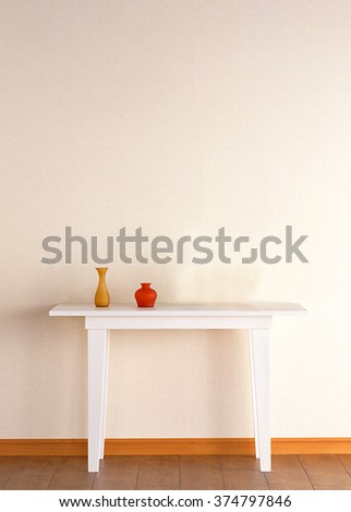 wall and table decoration interior - stock photo