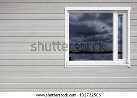 Wall and window - stock photo