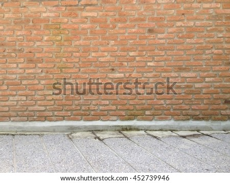 Wall bricks and cement floors