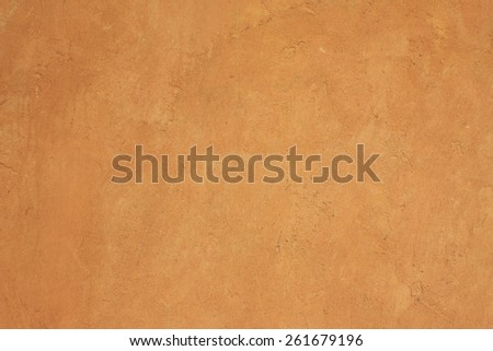 Wall cement yellow paint for background - stock photo
