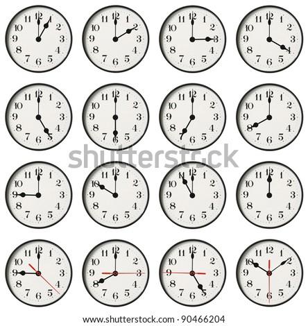 wall clock. - stock photo
