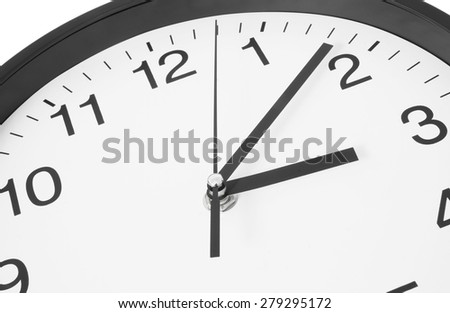 Wall clock close up - stock photo