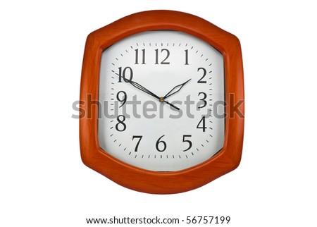 Wall clock dial - stock photo