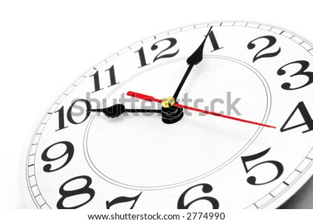 wall clock with white background