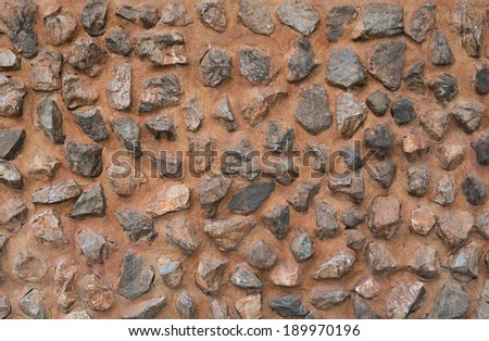 wall composed of rocks