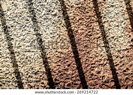 wall detail and pattern shadows - stock photo