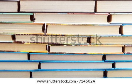 Wall from books - stock photo
