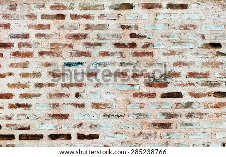 Wall from Bricklaying with Porous Seams in a laying. Background. Vertical image - stock photo
