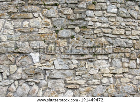 Wall from old stones, stone wall texture