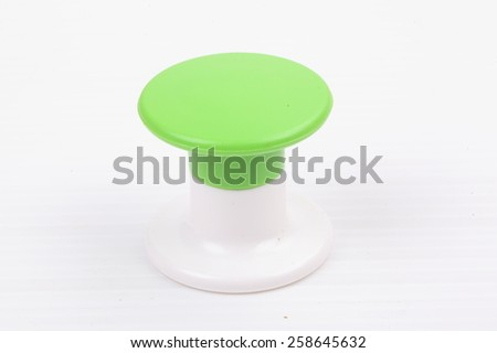Wall hanger isolated on white background - stock photo