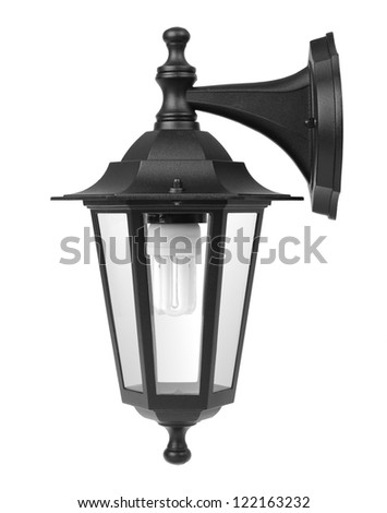 Wall Lamp Isolated - stock photo