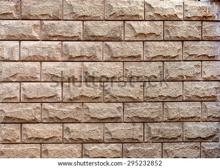 Wall made from sandstone bricks - detail