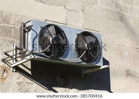Wall mounted air conditioning double unit - stock photo