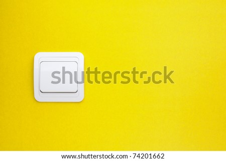 Wall-mounted light switch - stock photo