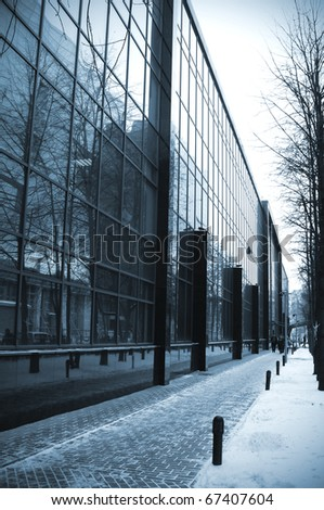 wall of business building - stock photo