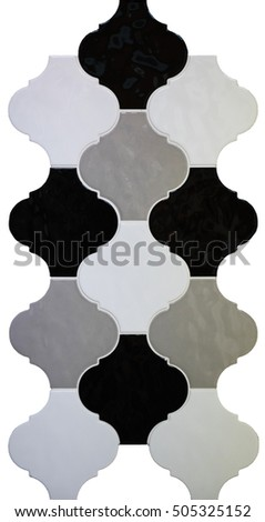 Wall Curved Ceramic Tiles Grey Scale Stock Photo 505325152 ...