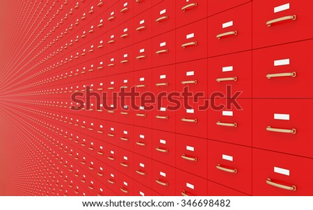 Wall of Filing cabinet