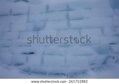 wall of ice cubes as texture or background - stock photo